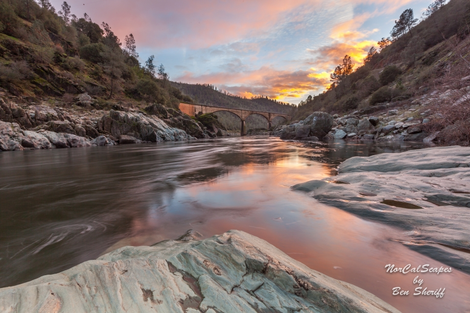 Sunset, No Hands Bridge Auburn California